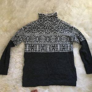 NWOT Fair Isle Mock Turtleneck Sweater
